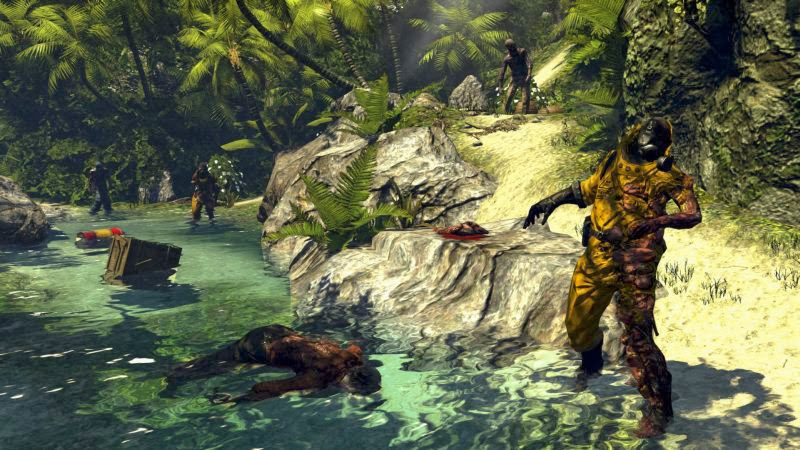Dead Island riptide game review picture of new zombies on a beach