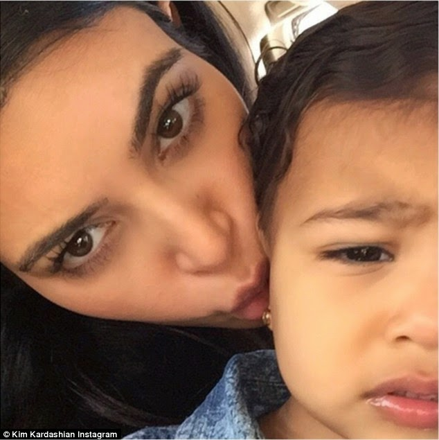Kim Kardashian posts adorable selfies with North