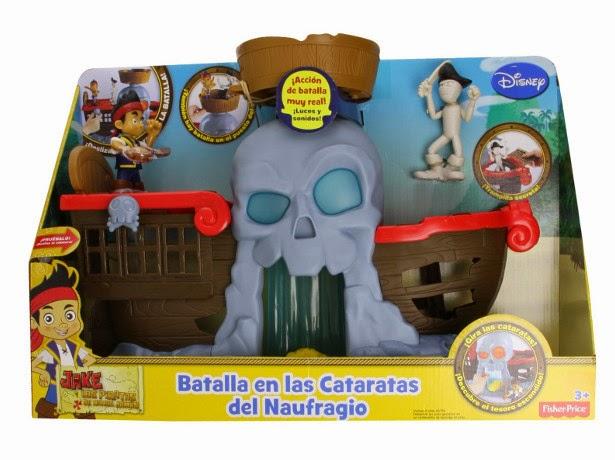 JUGUETES - Fisher-Price : DISNEY Jake y Los Piratas  Batalla en las Cataratas del Naufragio  Producto Oficial | Mattel CCV48 | A partir de 3 años