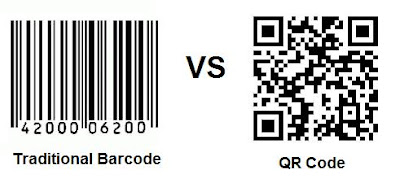 barcode vs QR code, traditional barcode, 2 dimensional barcode, square qr code