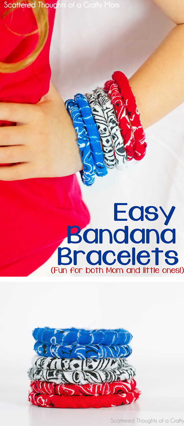 How to make these easy no sew fabric bracelets!