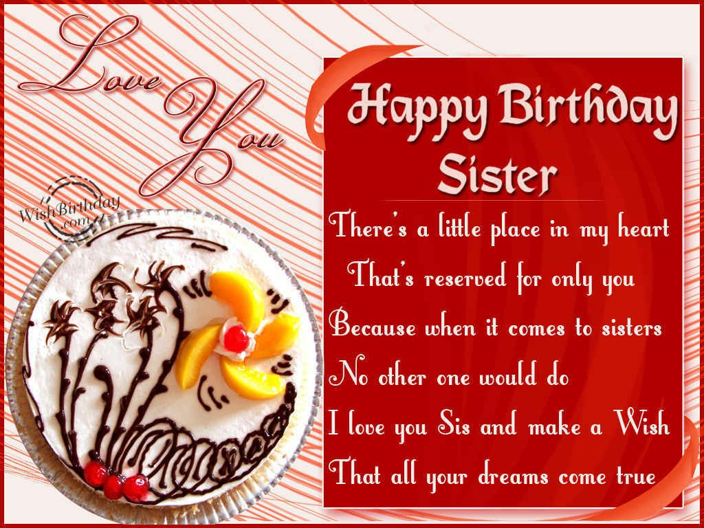 Happy Birthday Wishes For Sister 2016 – Happy Birthday Greetings Sister