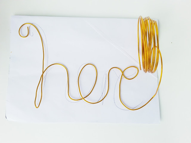 easy diy gold wire quote art