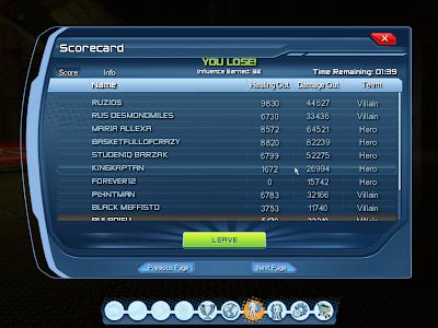 DC Universe Online - Scorecard