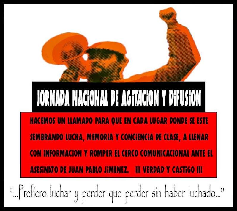 JORNADA NACIONAL DE AGITACIÓN Y DIFUSION