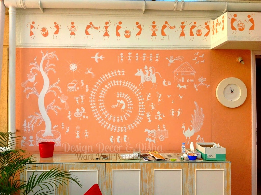 Warli Painting on Balcony wall