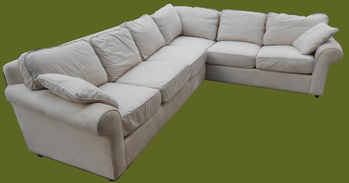 Uhuru Furniture Collectibles Off White Microsuede 2 Piece Sectional Sold