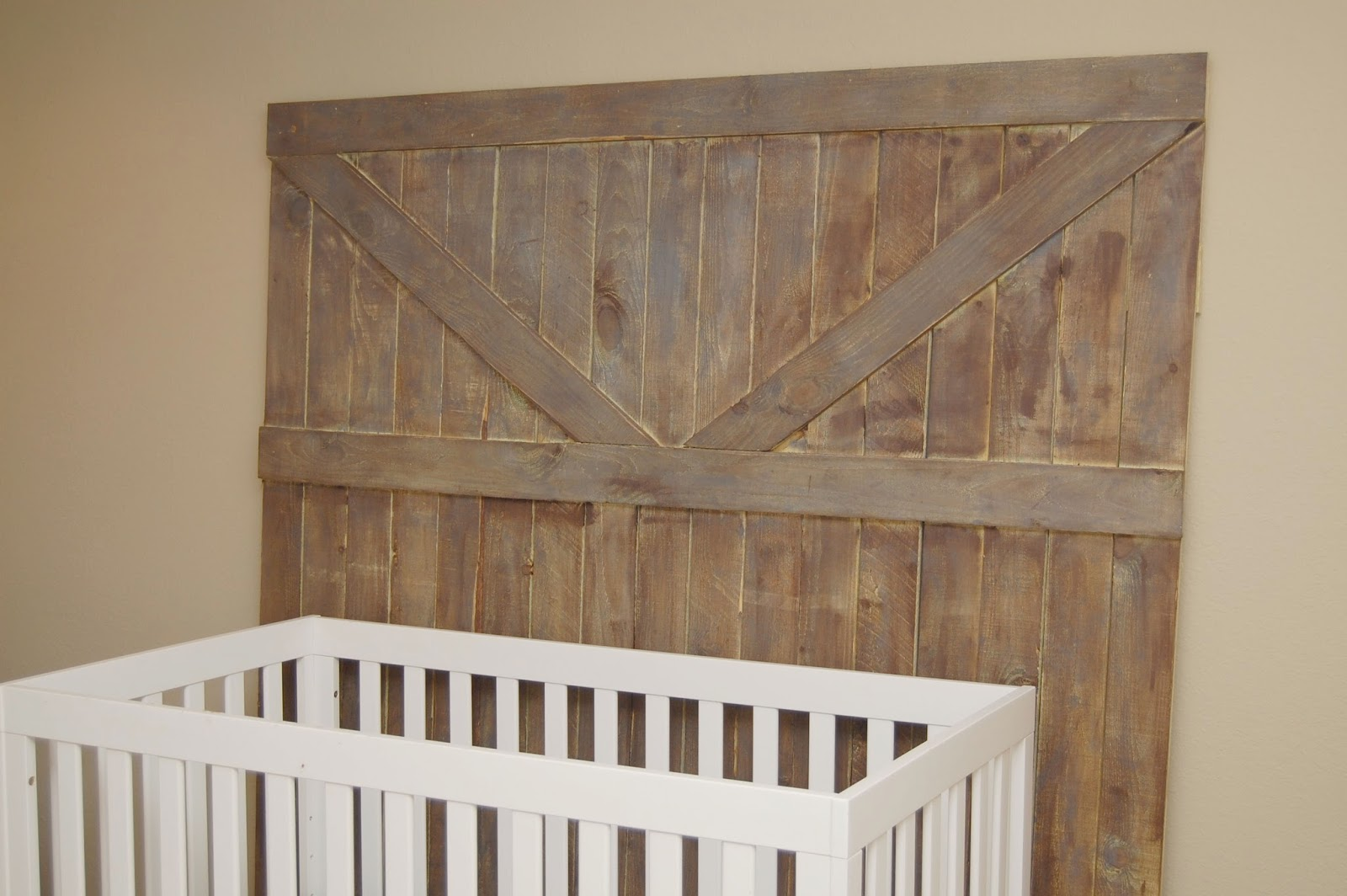 rustic woodland nursery barn door