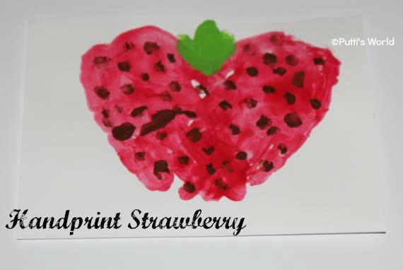 Hand Print Strawberry