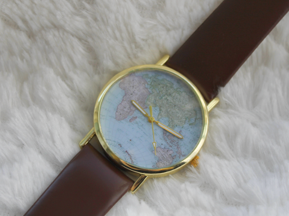 Vintage world map watch.