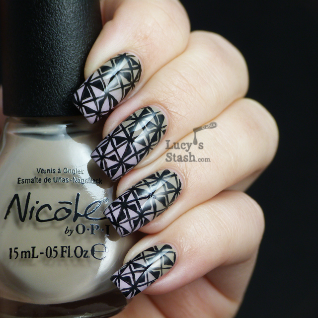 Lucy's Stash: Patterned gradient nails with tutorial feat. Nicole By OPI colours