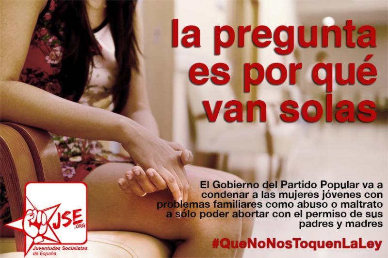ley aborto PP rajoy JSE Juventudes socialistas cádiz