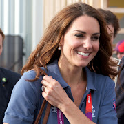 Kate Middleton let out a laugh as she hung out at the Olympics in London . (aaa)