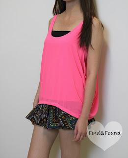 FindnFound_Neon Layered Top
