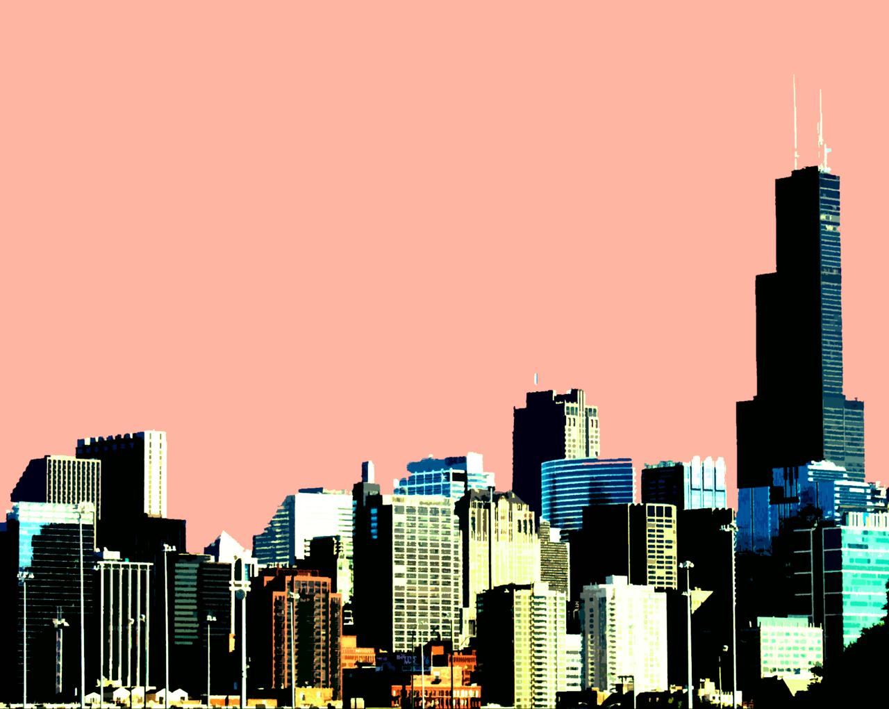 chicago skyline art - photo #30