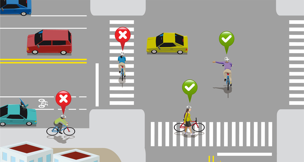 Correcto ciclistas