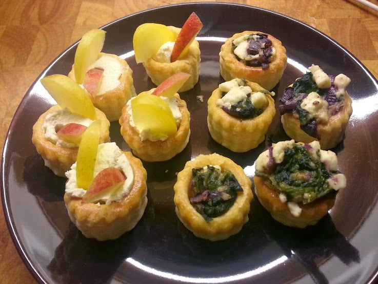 The brick castle vol au vent recipe pidy pastry cases for Canape fillings