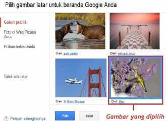 Cara merubah gambar latar Google, Background, Picasa, Photo, merubah background Google