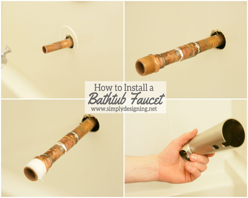 Bathroom Faucet Replacement how to install a new bathtub faucet when it is incompatible with