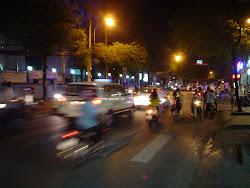 Motorbike onboard camera Saigon Vietnam