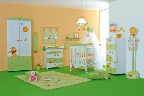 Best tips to create wonderful baby room decor for your for Winnie the pooh bedroom designs