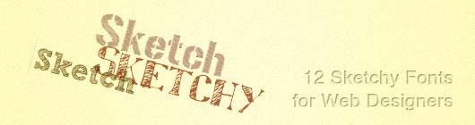 12 Sketchy Fonts for Web Designers