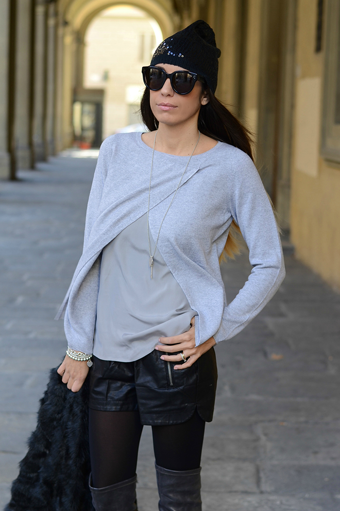 maglione cachemere grigio