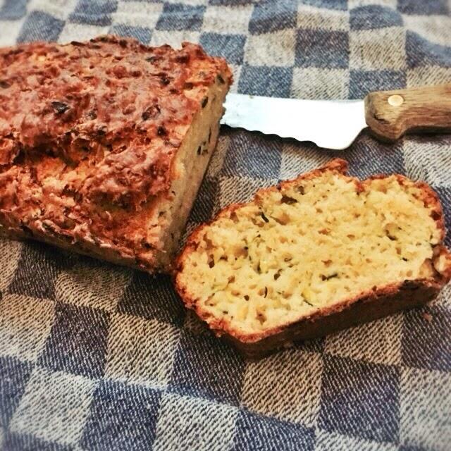Courgette brood met parmezaanse kaas