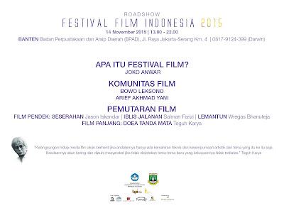 ROADSHOW FFI 2015, Kremov Pictures Organizer Daerah Banten
