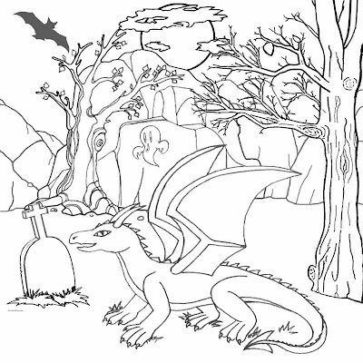 Free Printable Halloween Coloring Pages Dragons