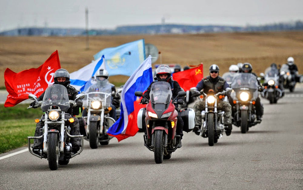 Members Of The Night Wolves Motorcycle Club Are Taking Part In A Journey  From Moscow To Berlin To Commemorate The 70th Anniversary Of The Victory In  The ...