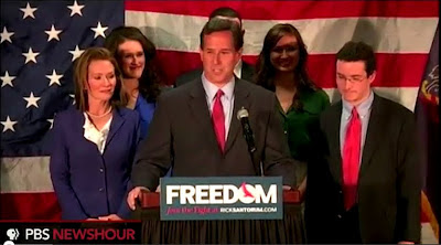 Rick Santorum wife and family suspending Campaign