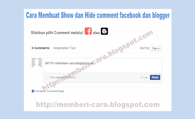 Cara Membuat Show and Hide Comments Facebook dan Blogger