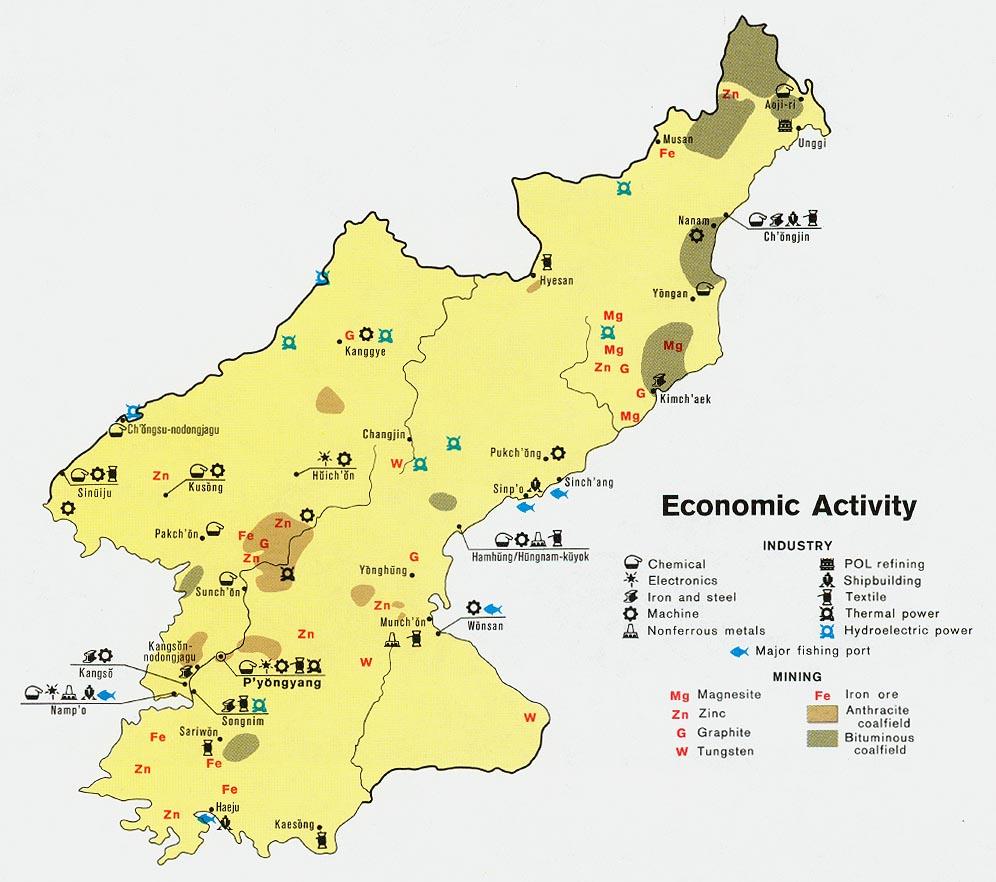 North Korea Map Political Regional
