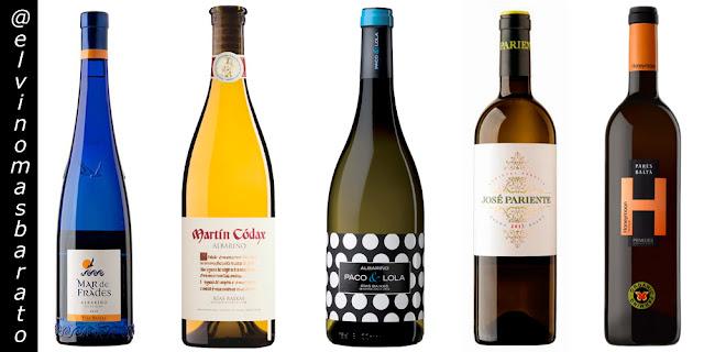 5 Vinos Blanco por menos 12 € para la Navidad