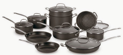 Cuisinart Nonstick Hard-Anodized 17-Piece Cookware Set