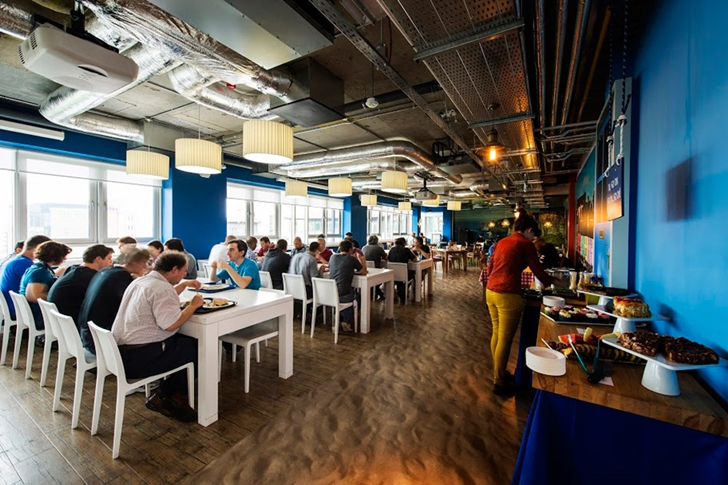 Dining room in Google office in Dublin