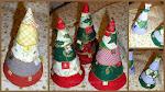 Textil karácsonyfa