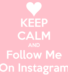 Follow Me on Instragram