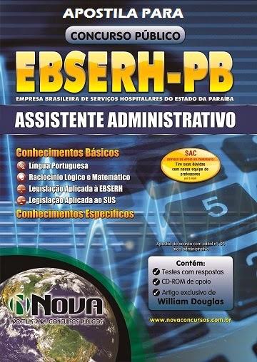 Apostila EBSERH PB 2014 para Assistente Administrativo