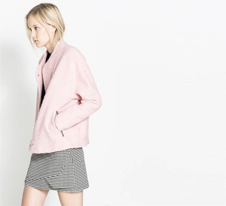 Zara fall 2013 look book pink coat