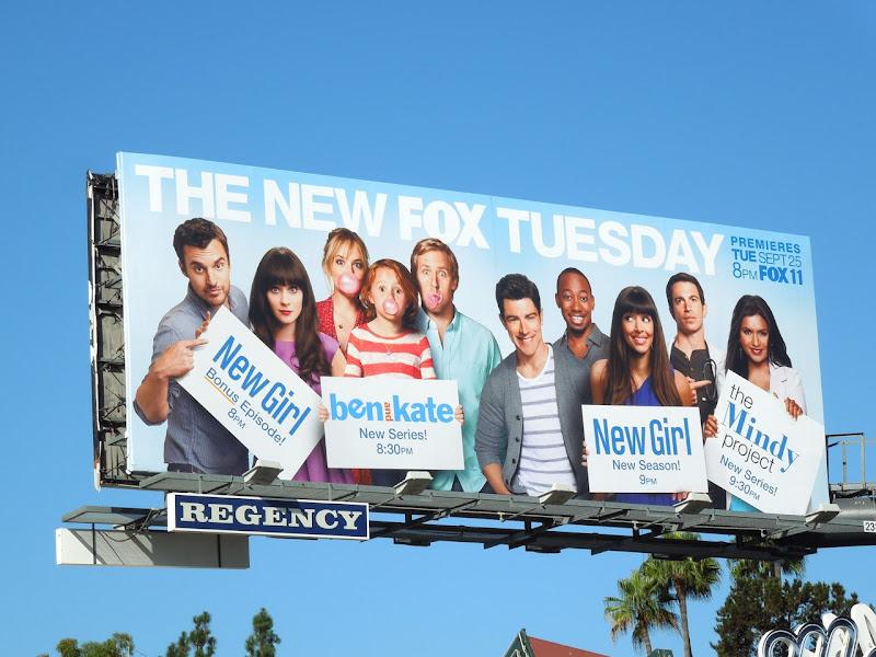New Girl Fox Tuesday comedy billboard Fall 2012
