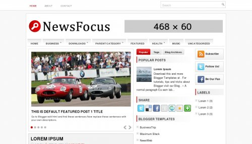 NewsFocus Blogger Template