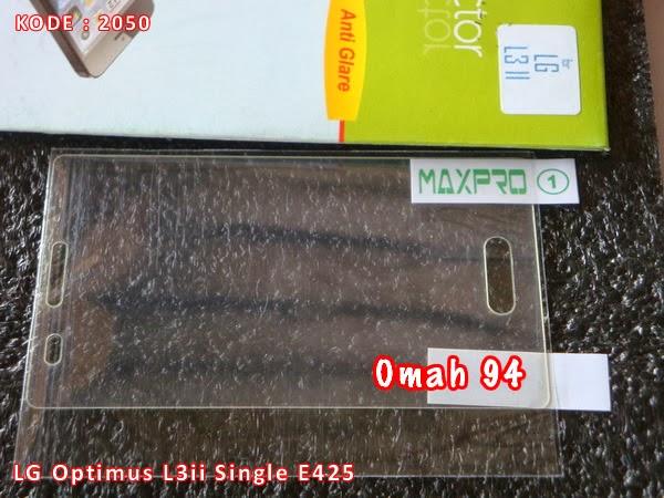 Gores / Anti Minyak (Glare) LG Optimus L3ii Single E425 Bening (Clear ...