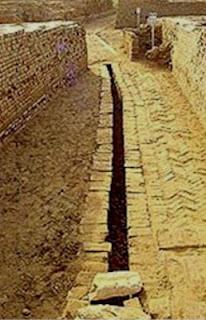 Línea de alcantarilla. Mohenjo-Daro. Lacasamundo.com