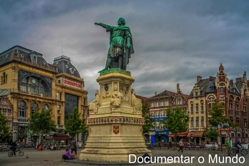 Vrijdagmarkt; Jacob van Artevelde; Bélgica; Gent; Flandres