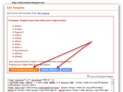 tutorial gratis merubah template bog