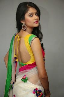 Kushi young telugu Actress Kushi in lovely Saree Yellow Backless Blouse Stunning Pics