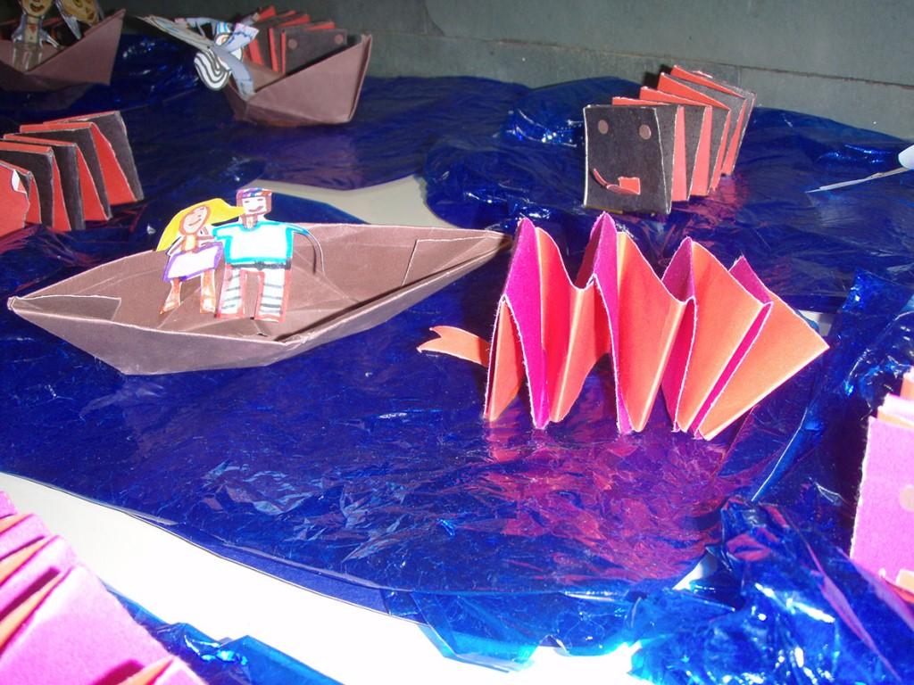 Vários materiais são usados para a recontação das lendas indígenas