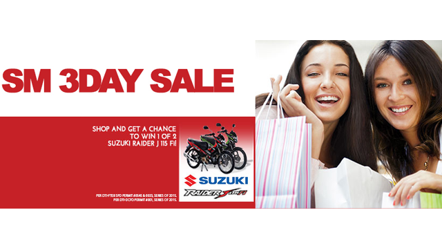 SM 3-day sale January 2015